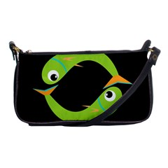 Green fishes Shoulder Clutch Bags