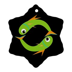 Green fishes Ornament (Snowflake)