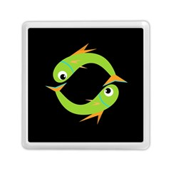 Green fishes Memory Card Reader (Square)