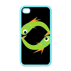 Green fishes Apple iPhone 4 Case (Color)