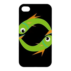Green fishes Apple iPhone 4/4S Hardshell Case