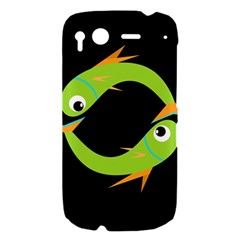 Green fishes HTC Desire S Hardshell Case