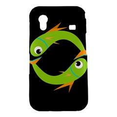 Green fishes Samsung Galaxy Ace S5830 Hardshell Case
