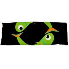 Green fishes Body Pillow Case Dakimakura (Two Sides)