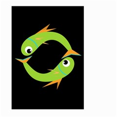 Green fishes Large Garden Flag (Two Sides)