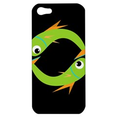 Green Fishes Apple Iphone 5 Hardshell Case