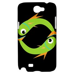 Green fishes Samsung Galaxy Note 2 Hardshell Case