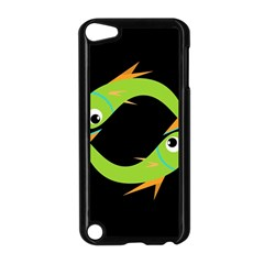 Green fishes Apple iPod Touch 5 Case (Black)