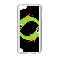 Green fishes Apple iPod Touch 5 Case (White)