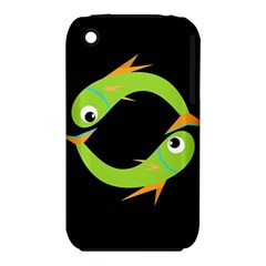 Green fishes Apple iPhone 3G/3GS Hardshell Case (PC+Silicone)