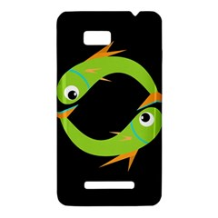 Green fishes HTC One SU T528W Hardshell Case