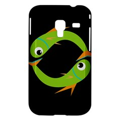 Green fishes Samsung Galaxy Ace Plus S7500 Hardshell Case