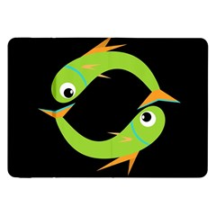Green fishes Samsung Galaxy Tab 8.9  P7300 Flip Case