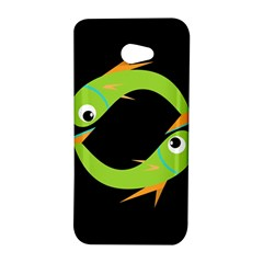 Green fishes HTC Butterfly S/HTC 9060 Hardshell Case