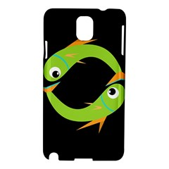 Green fishes Samsung Galaxy Note 3 N9005 Hardshell Case