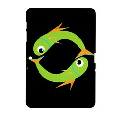 Green fishes Samsung Galaxy Tab 2 (10.1 ) P5100 Hardshell Case