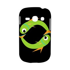 Green fishes Samsung Galaxy S6810 Hardshell Case