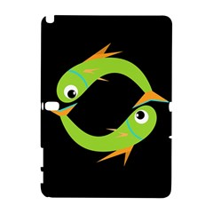 Green fishes Samsung Galaxy Note 10.1 (P600) Hardshell Case