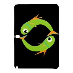 Green fishes Samsung Galaxy Tab Pro 10.1 Hardshell Case