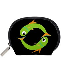 Green fishes Accessory Pouches (Small)