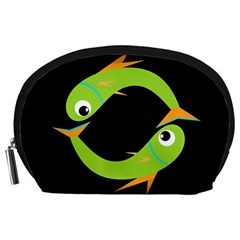 Green fishes Accessory Pouches (Large)