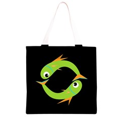 Green fishes Grocery Light Tote Bag