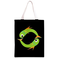 Green fishes Classic Light Tote Bag