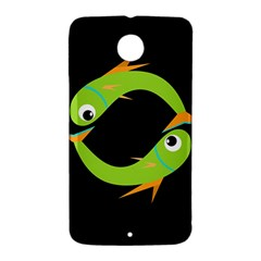 Green fishes Nexus 6 Case (White)