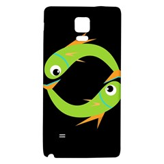 Green fishes Galaxy Note 4 Back Case