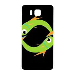 Green fishes Samsung Galaxy Alpha Hardshell Back Case