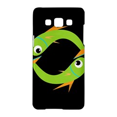 Green fishes Samsung Galaxy A5 Hardshell Case