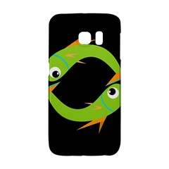 Green fishes Galaxy S6 Edge