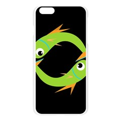 Green fishes Apple Seamless iPhone 6 Plus/6S Plus Case (Transparent)