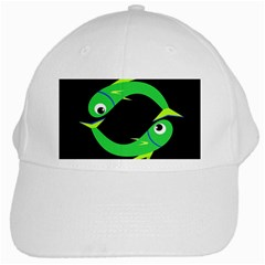 Green fishes White Cap