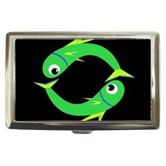 Green fishes Cigarette Money Cases