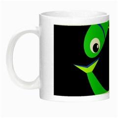 Green fishes Night Luminous Mugs