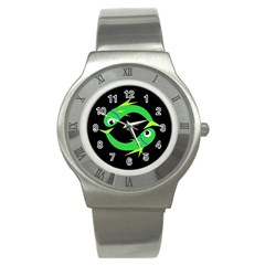 Green fishes Stainless Steel Watch