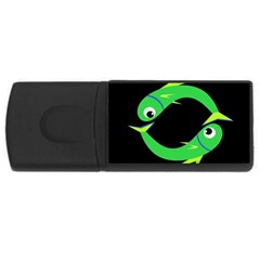 Green fishes USB Flash Drive Rectangular (4 GB)