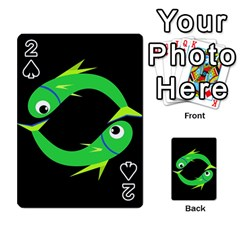 Green fishes Playing Cards 54 Designs
