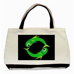 Green fishes Basic Tote Bag