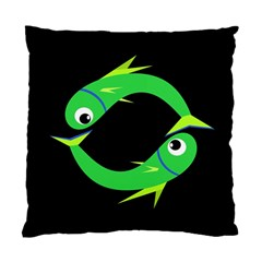 Green fishes Standard Cushion Case (Two Sides)