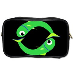 Green fishes Toiletries Bags