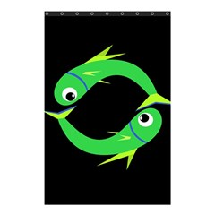 Green fishes Shower Curtain 48  x 72  (Small)