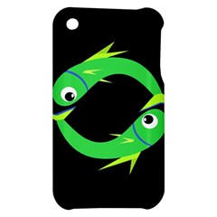 Green fishes Apple iPhone 3G/3GS Hardshell Case