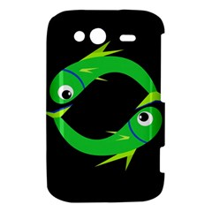Green fishes HTC Wildfire S A510e Hardshell Case
