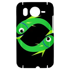 Green fishes HTC Desire HD Hardshell Case
