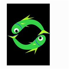 Green fishes Small Garden Flag (Two Sides)