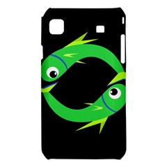Green fishes Samsung Galaxy S i9008 Hardshell Case