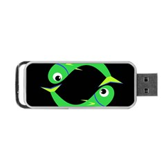 Green fishes Portable USB Flash (Two Sides)