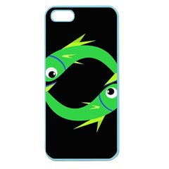 Green fishes Apple Seamless iPhone 5 Case (Color)